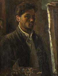 Sala 1. Gli inizi | Giancarlo Vitali. Autoritratto. 1946