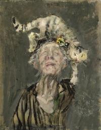 Sala 2. Uomo donna | Giancarlo Vitali. Dama dei gatti. 1985