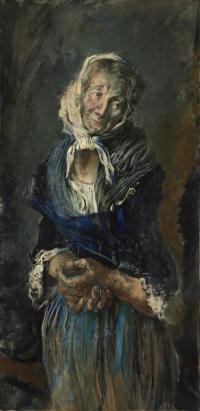 Sala 2. Uomo donna | Giancarlo Vitali. Vecchia contadina (dal Cerutti). 1986