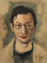 Sala 3. Ritratti | Giancarlo Vitali. Ritratto di Toto Colombo. 1953