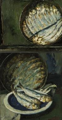 Sala 5. Tavole e still life | Giancarlo Vitali. Missoltini nelle latte. 1980