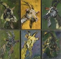 Sala 6. Legati alla loro terra | Giancarlo Vitali. Ritratto di capre. 1990