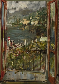 Sala 7. Paese paesaggio | Giancarlo Vitali. Finestra sul paese. Estate. 1990