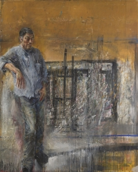 Sala 9. Doppio ritratto | Velasco Vitali. Ritratto-autoritratto. Fronte. 1988