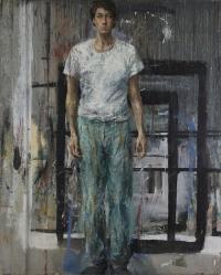 Sala 9. Doppio ritratto | Velasco Vitali. Ritratto-autoritratto. Retro. 1988