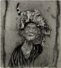 Giancarlo Vitali. La dama dei gatti 2°. 1986
